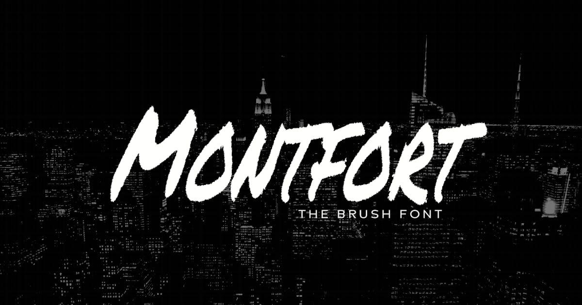 Download MONTFORT - Custom Handmade Brush Font by designova