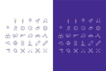 icons set of summer sports games