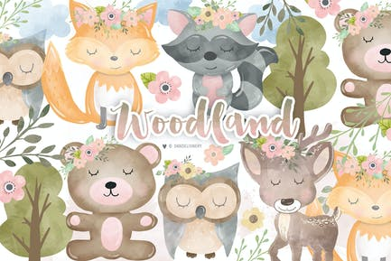 Woodland animals design