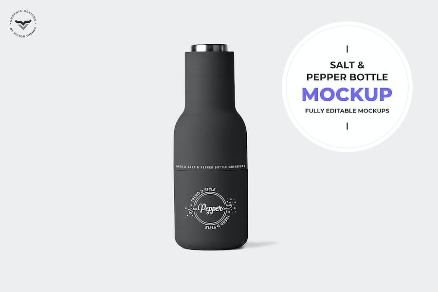 Salt & Pepper Bottle Mockup