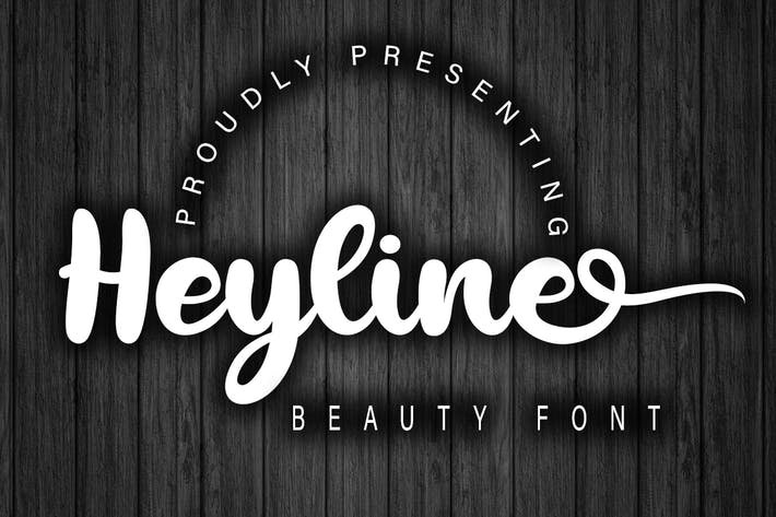 Cover Image For Heyline Beauty Bold Script