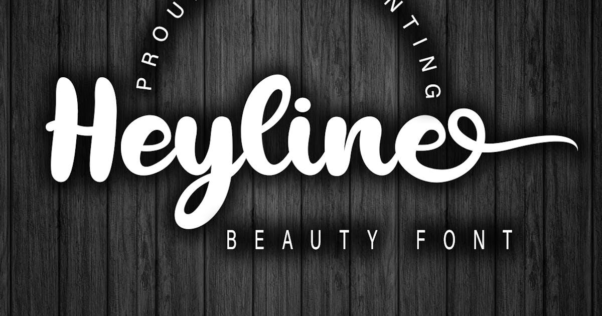 Download Heyline Beauty Bold Script by Skiiller_studio