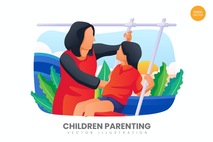 Thumbnail for Children Parenting Vector Illustration Concept