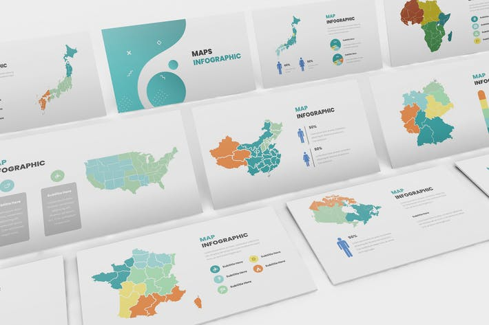 Cover Image For Maps Infographic Google Slides Template