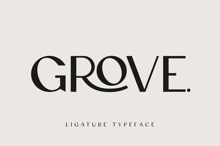 Thumbnail for Grove - Modern Ligature Sans Serif