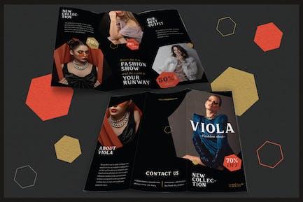 Modegeschäft in eleganter Form - Broschüre