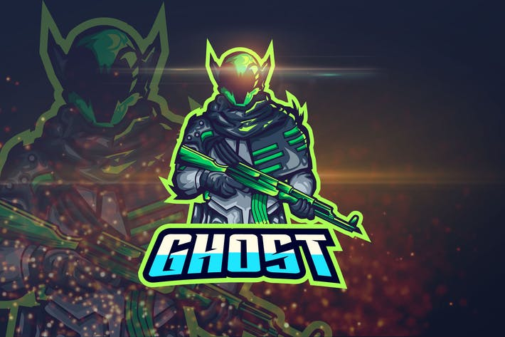 Thumbnail for Ghost - Shooter eSport Logo Template