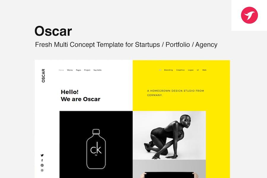 Oscar -  Template for Startups, Portfolio & Agency