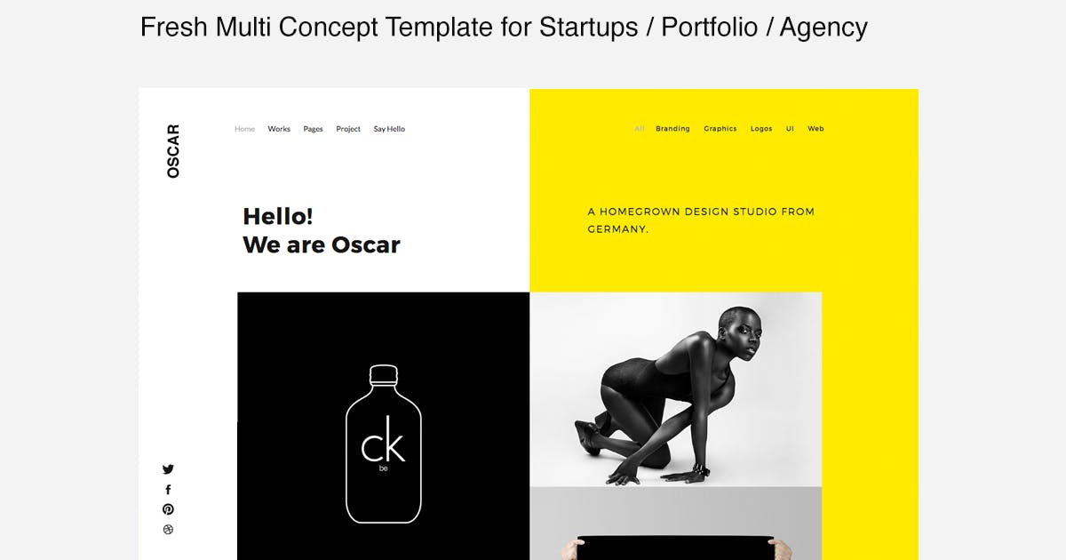 Download Oscar -  Template for Startups, Portfolio & Agency by designova
