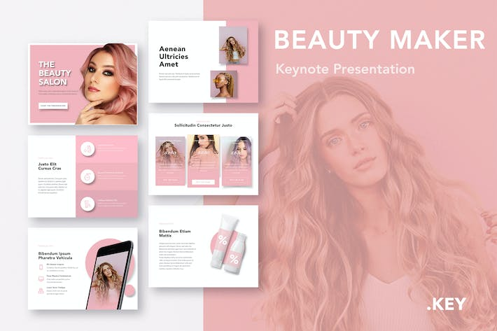 Cover Image For Beauty Maker Keynote Template