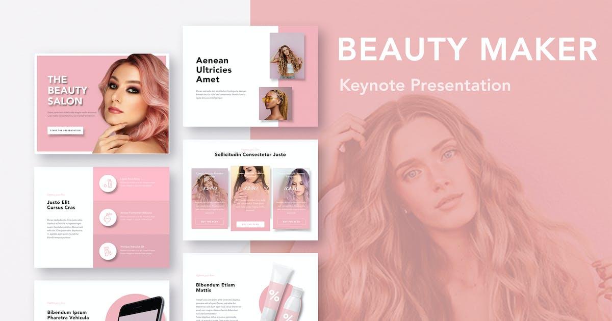 Download Beauty Maker Keynote Template by Jumsoft