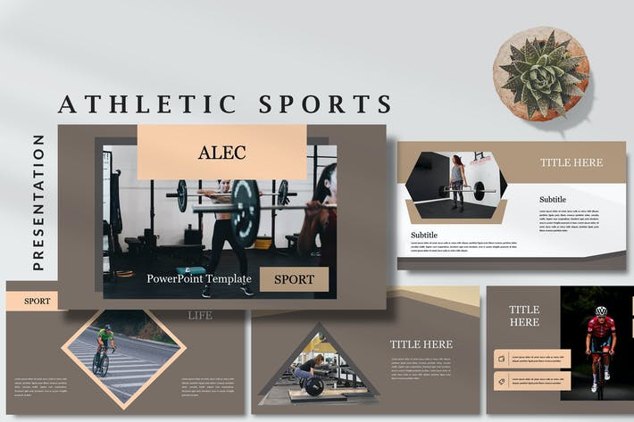 Thumbnail for Alec Athletic - Sports Powerpoint Template