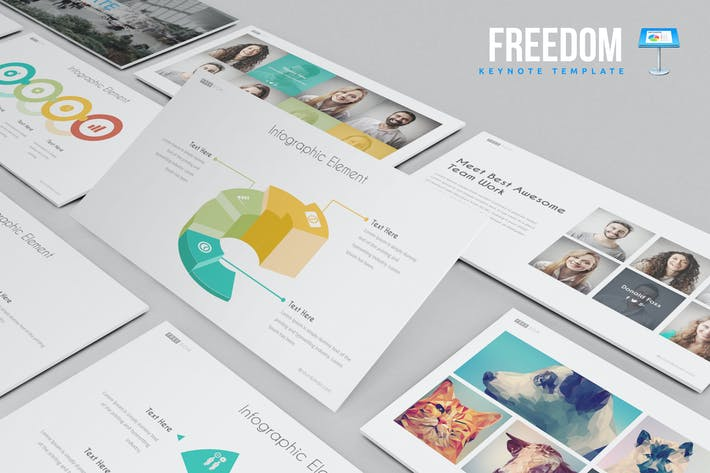 Thumbnail for Freedom Keynote Template