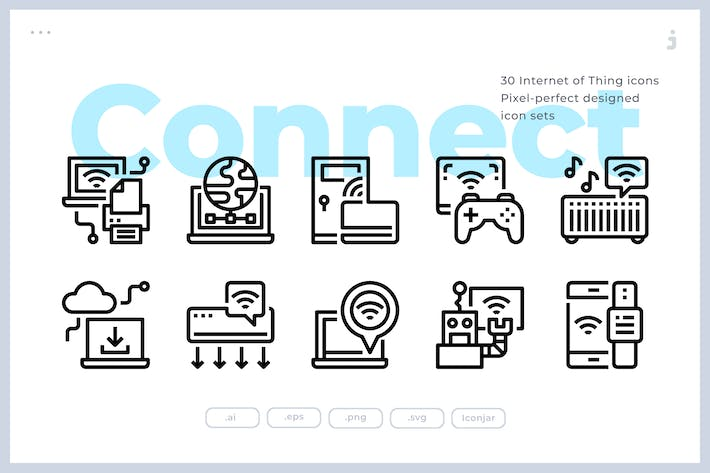 Thumbnail for 30 Internet Of Thing Icons