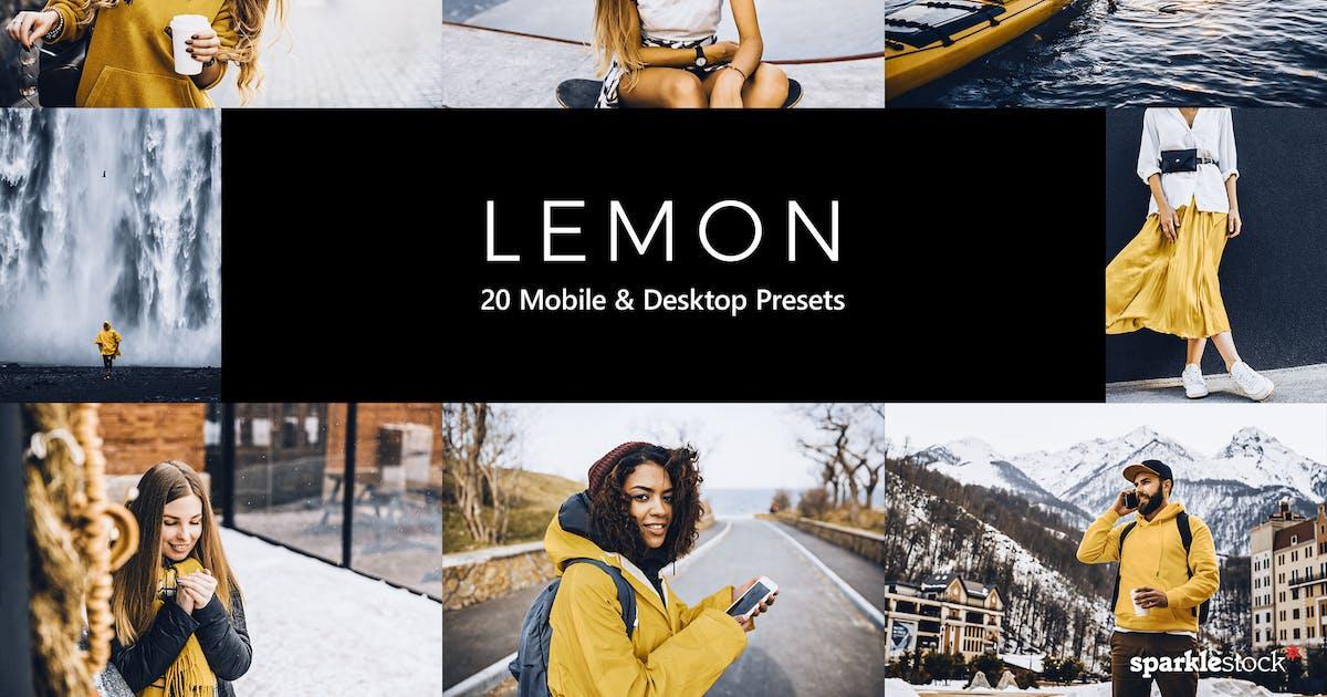 Download 20 Lemon Lightroom Presets and LUTs by sparklestock