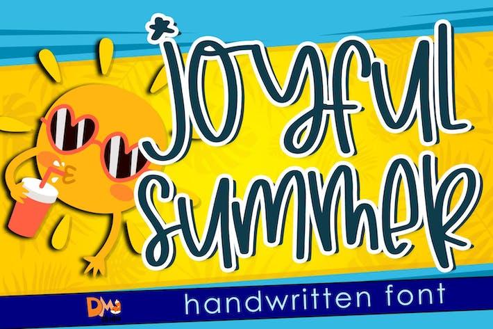 Joyfull Summer - Police manuscrite