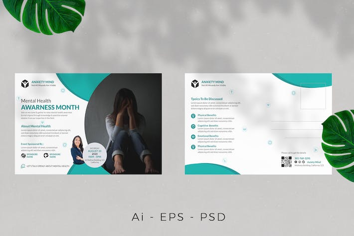 Thumbnail for Psychologie Postkarten-Design