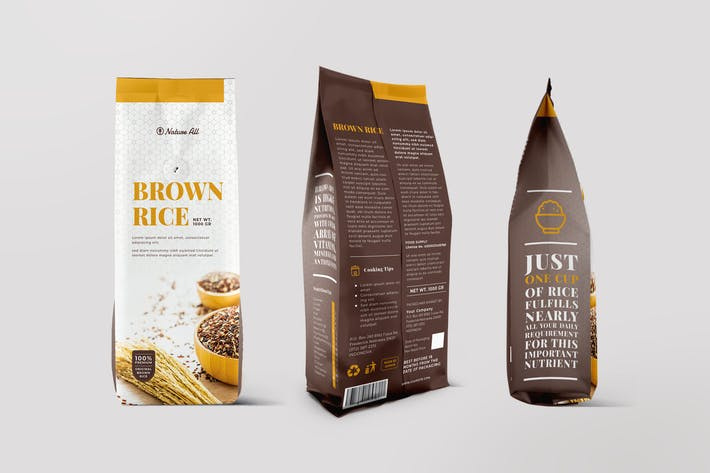Cover Image For Coffee Bag Packaging Template