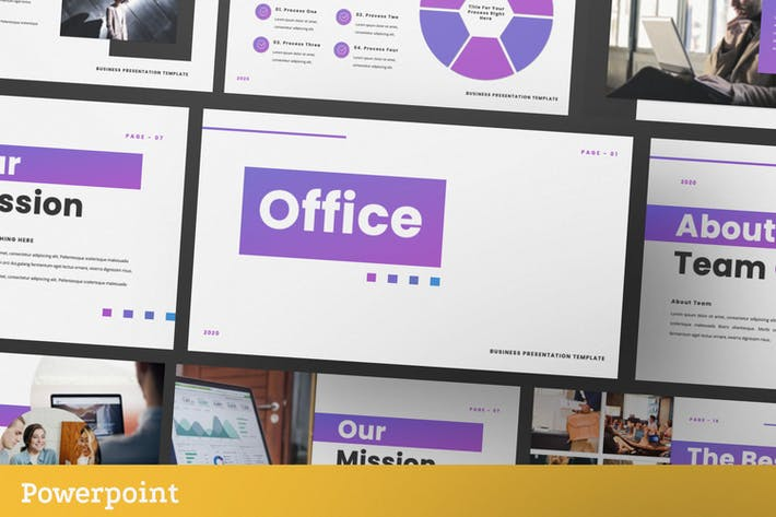 Thumbnail for Office Business Presentation Template