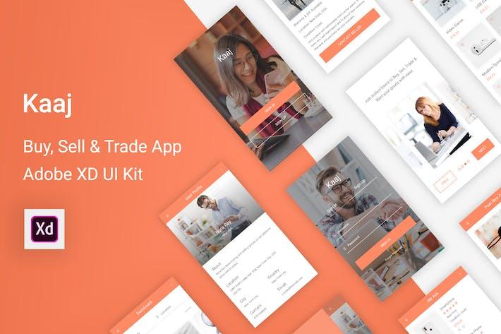 Thumbnail for Kaaj - Buy, Sell & Trade UI Kit for Adobe XD