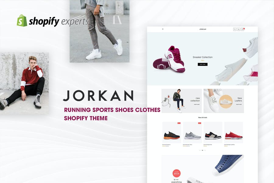 Jorkan - Running Shoes Clothes Shopify Theme