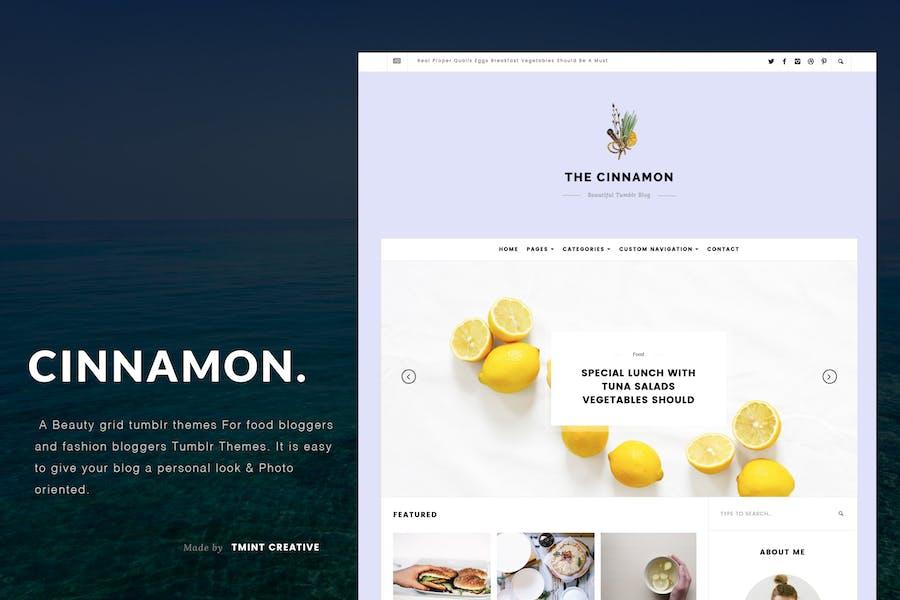 Cinnamon | Casual Grid Tumblr Theme