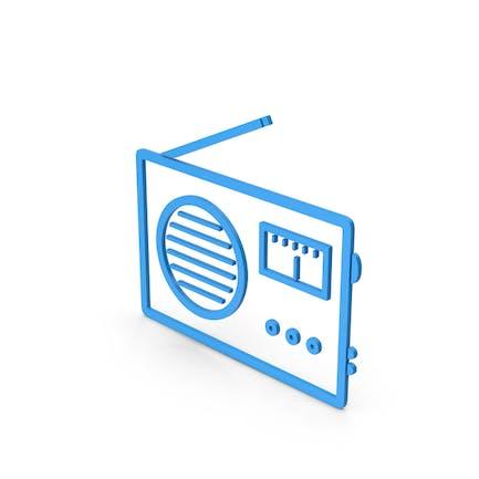Symbol Radio Blue