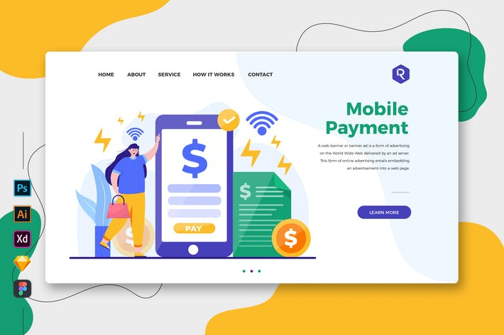 Mobile Payment - Web & Mobile Landing Page