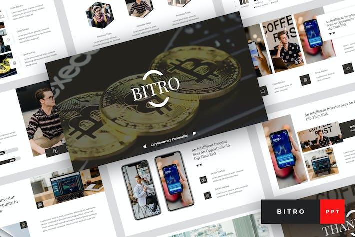 Thumbnail for Bitro - Criptocurrency PowerPoint Template