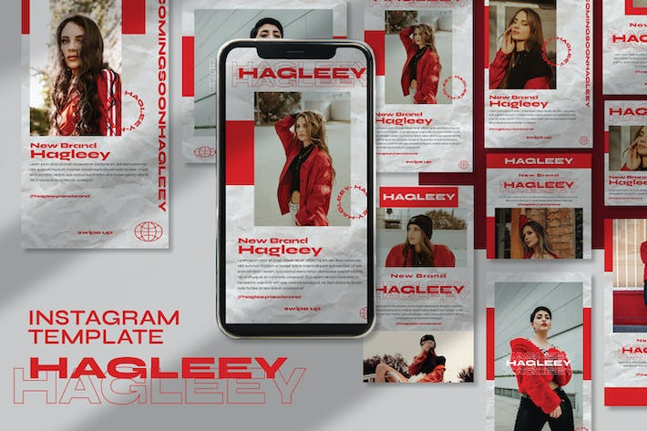 Thumbnail for Hagleey Instagram Template