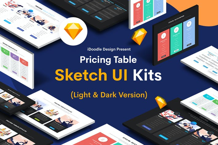 Thumbnail for Pricing Table Sketch UI Kits