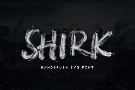 Shirk - Handbrush SVG Font