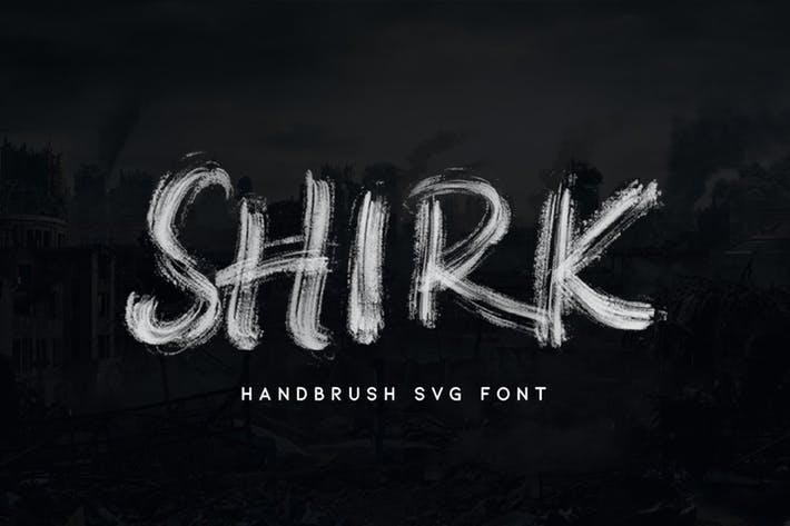 Thumbnail for Shirk - Handbrush SVG Font