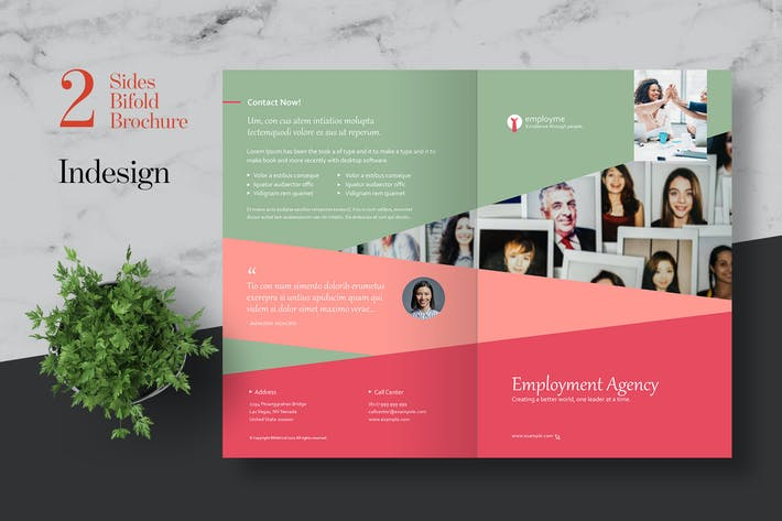 Thumbnail for Clean HR Bifold Brochure