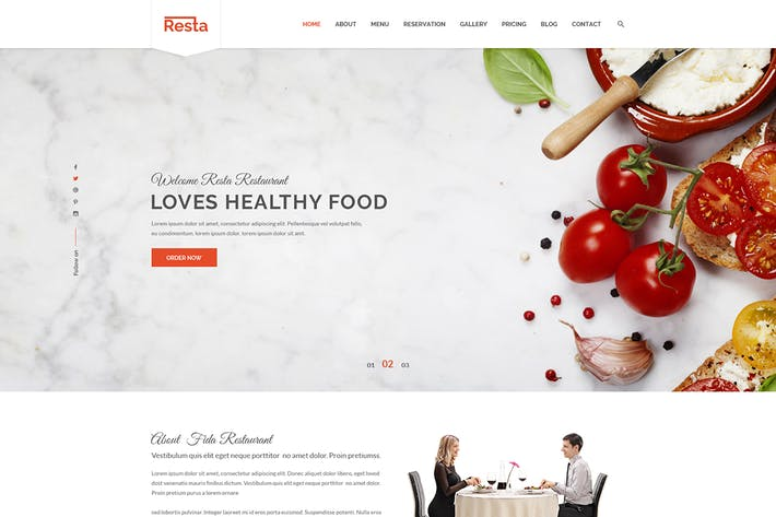 Thumbnail for Resta - Restaurant PSD Template
