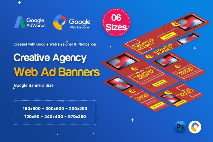 Thumbnail for Creative, Startup Agency Banners HTML5 D40