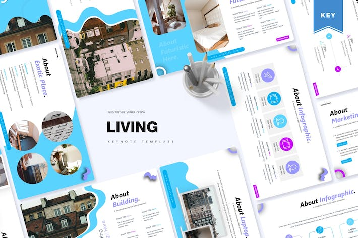 Thumbnail for The Living | Keynote Template
