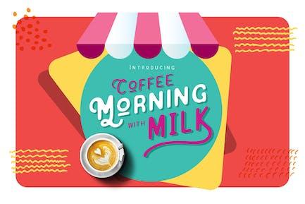 Café por la mañana con leche