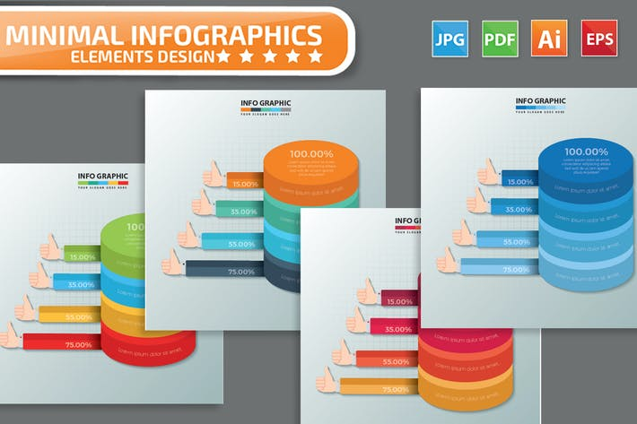 Thumbnail for Big data design infographic Design