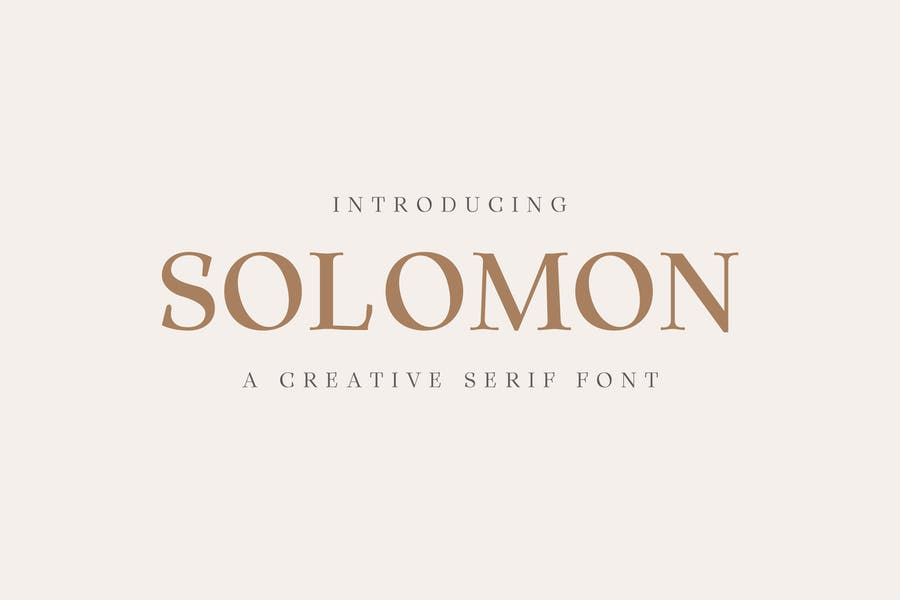 Solomon Con serifa Familia tipográfica