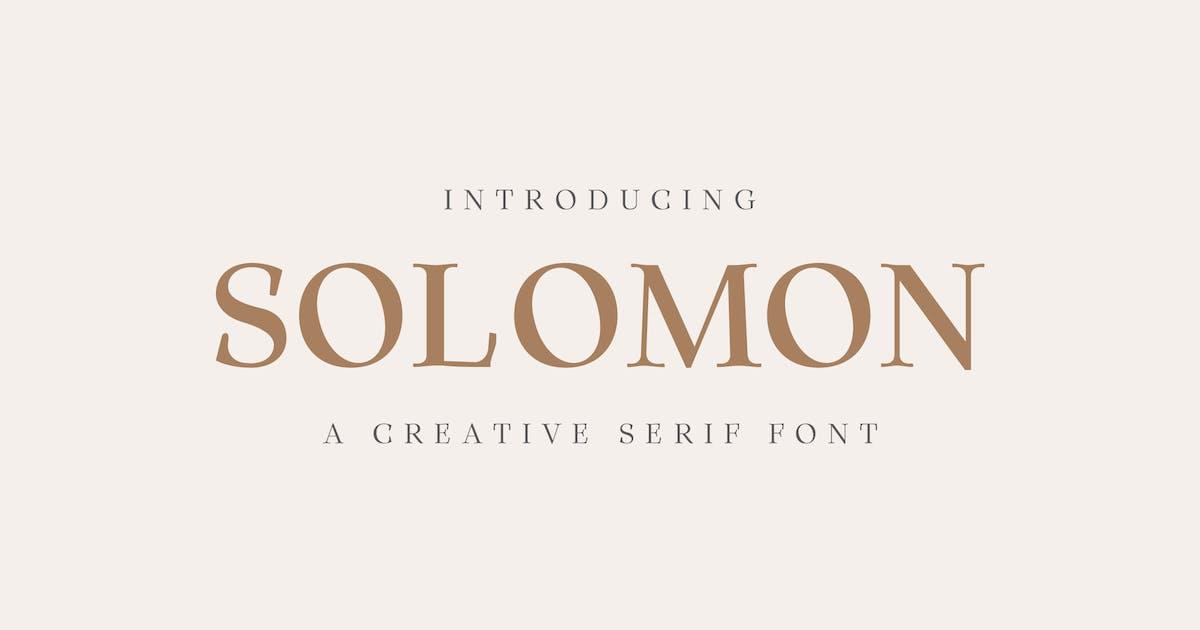 Download Solomon Serif Font Family by creativetacos