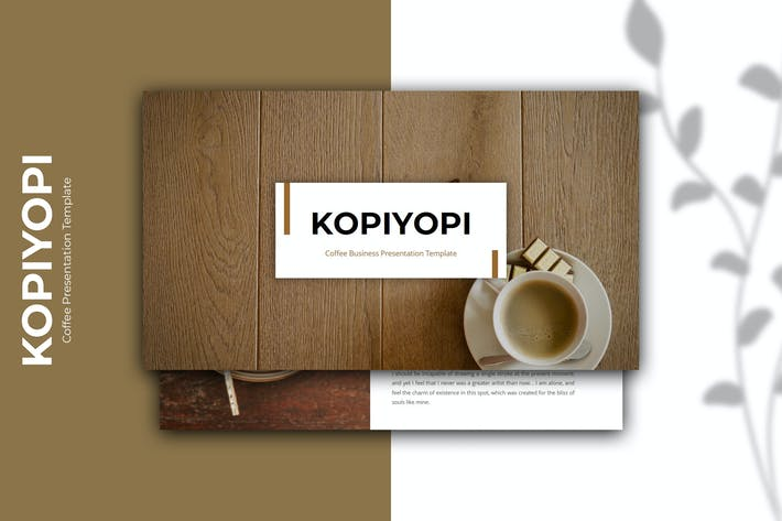 Thumbnail for Kopiyopi — Шаблон Keynote кофейного бизнеса