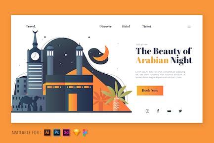 The Beauty of Arabian Night - Web Illustration