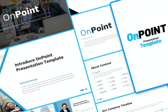 OnPoint Management Consulting PowerPoint Template