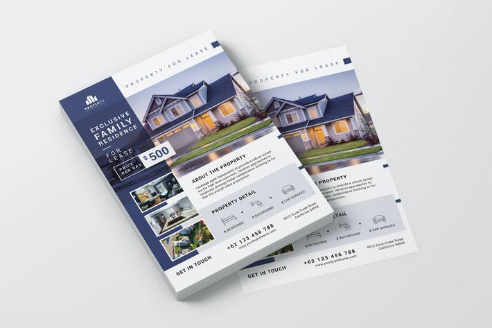 Thumbnail for Family Residence Property AI and PSD Flyer