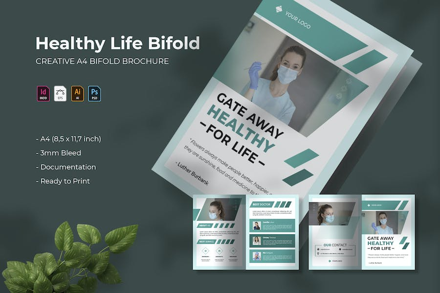 Healthy for Life | Bifold Brochure