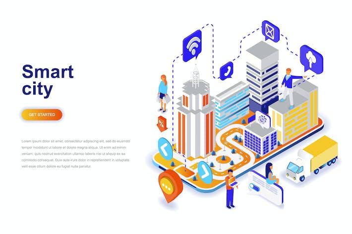 Thumbnail for Concepto Isométrico de Inteligente Ciudad