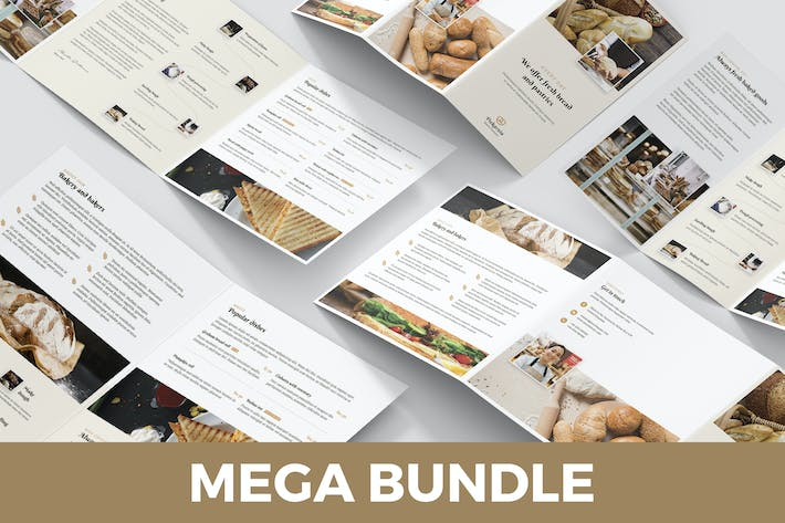 Thumbnail for Bakery – Brochures Bundle Print Templates 5 in 1