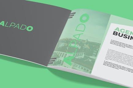 A4 Brochure Landscape - Mockup