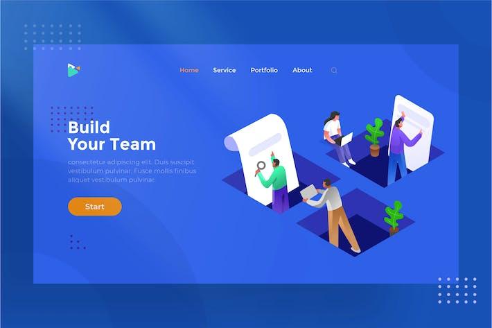 Thumbnail for Team Work - Isometric Illustration 1.1
